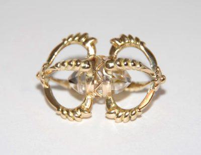 Skriver design guldsmed Jette guld dorje tibetansk krystal unika håndlavet